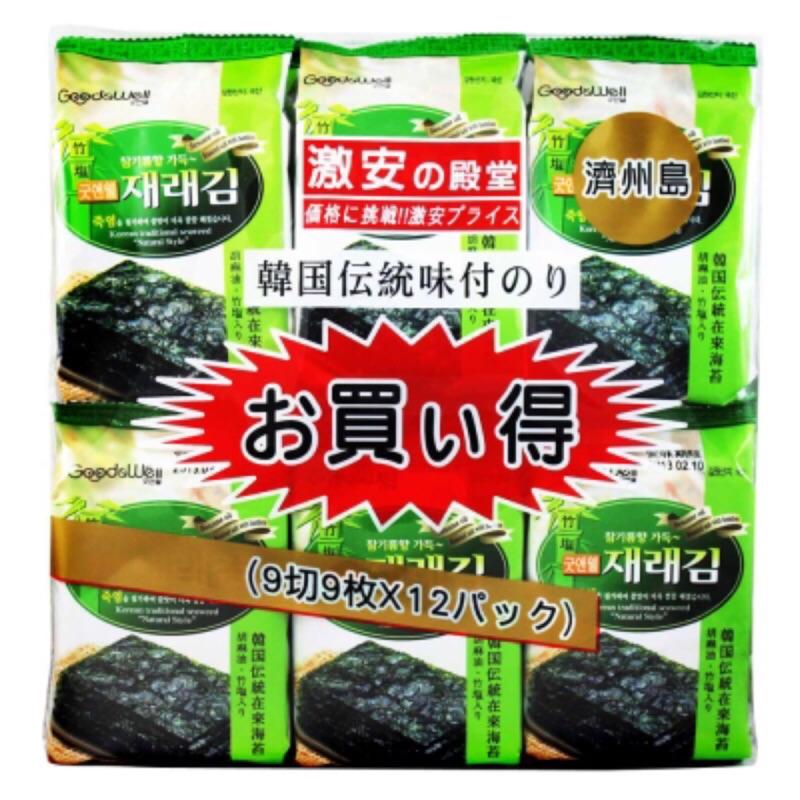 韓國 激安殿堂竹鹽海苔 12入