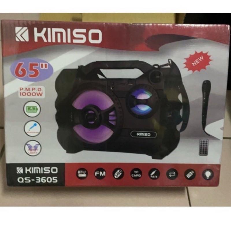 KIMISO QS-3605 藍芽卡拉ok音響 內附麥克風 搖控器