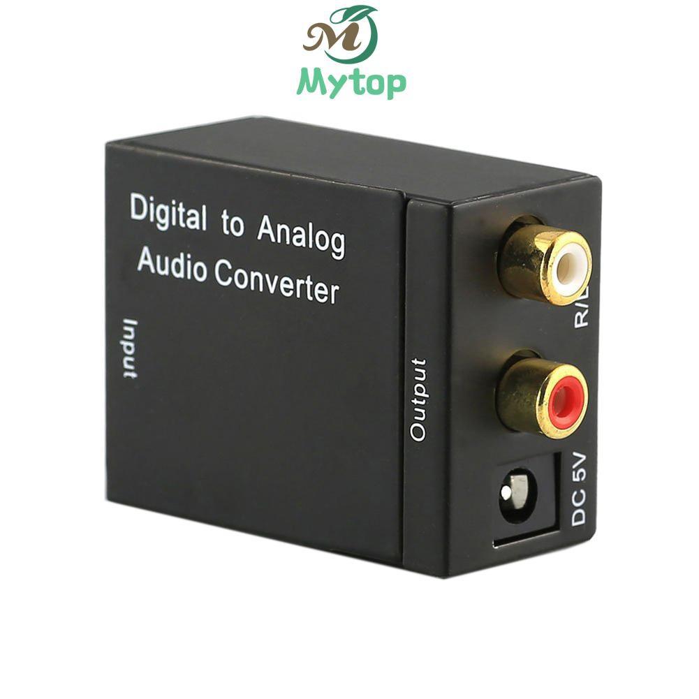Mytop 12.4 數字光纖/同軸轉模擬R/L音頻轉換器 SPDIF 數字音頻轉模擬+USB 線+光纖線