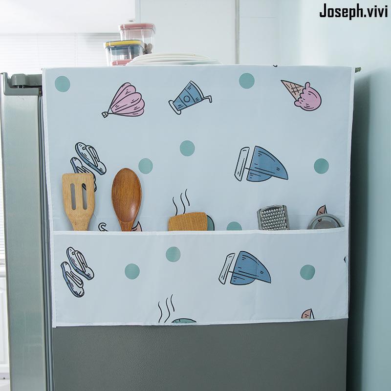 📌精品秒發冰箱蓋布洗衣機罩單開雙開門滾筒式微波爐防灰收納袋式防油防塵罩