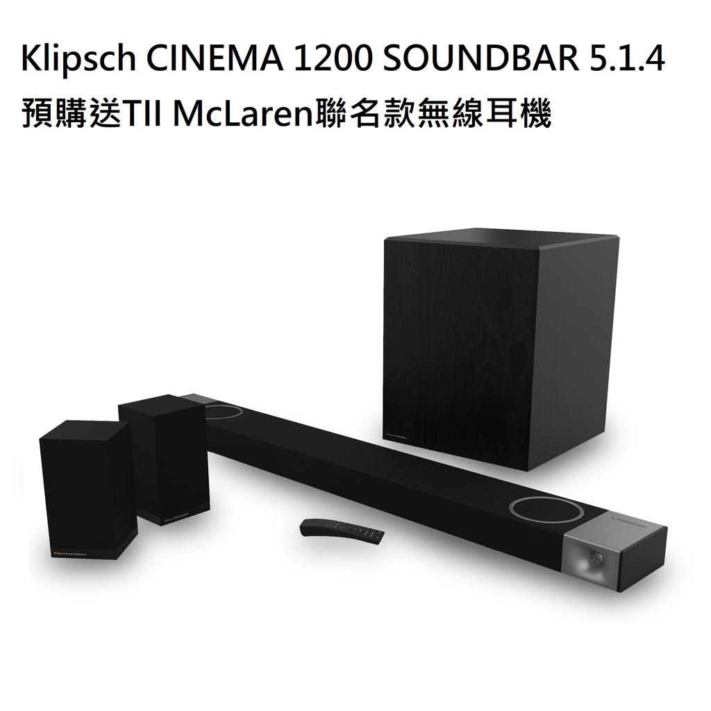 『嘉義華音音響』Klipsch Cinema 1200 SoundBar 目前採預購制,歡迎詢問預購價格