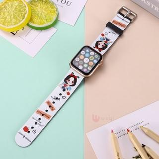 卡通白雪公主矽膠錶帶 適用 apple watch 錶帶 iwatch SE 3 4 5 6 38 40 42 44mm 桃園市