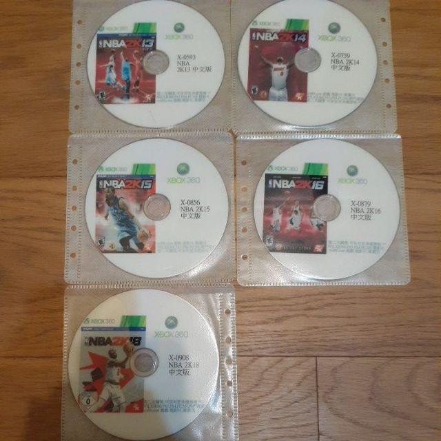 xbox360 改機遊戲片,NBA2K13~16、18中文版