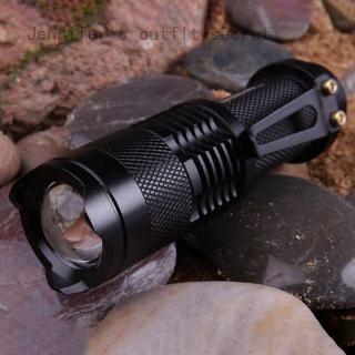 詹妮弗的著裝秘密迷你手電筒3000LM Q5 LED手電筒AA /  14500可調變焦聚焦手電筒燈led