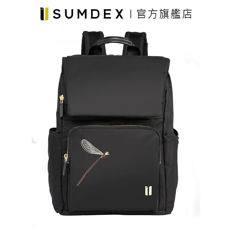 Sumdex 掀蓋式安全後背包(蜻蜓版) NON-704BK-DT 黑色 官方旗艦店