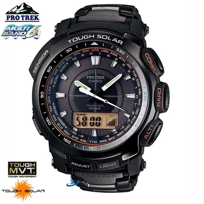 【金響鐘錶】全新CASIO PRW-5100YT-1BDR,太陽能,電波,登山錶,鈦,公司貨,PRW-5100YT-1B