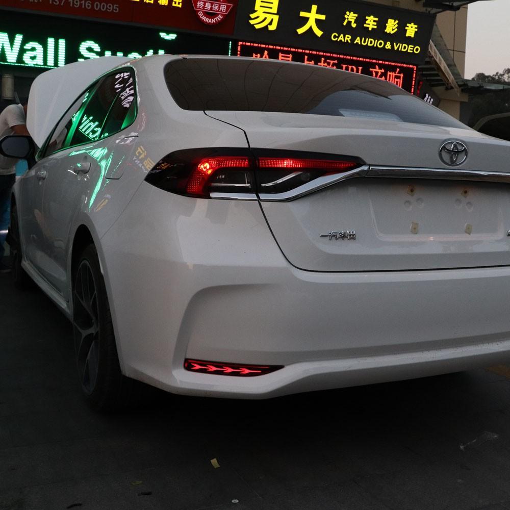 免運 豐田 TOYOTA  ALTIS 12代 19-21年 LED 三功能 後霧燈 後杠燈 煞車燈 轉向燈 魚骨款