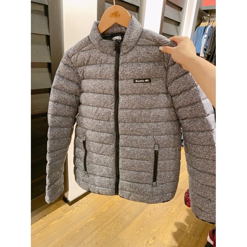 現貨🔜 Roots🍁 女 經典麻灰輕羽絨立領外套 羽絨外套 可收納 保暖外套 正品代購