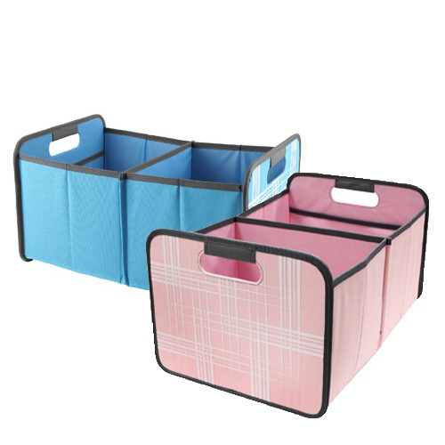 可收納儲物盒 二格/兩色可選 收納籃/收納籃子/儲物籃/衣物收納