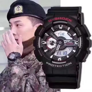 限定 CASIO 卡西歐手錶 G-SHOCK GA-110-1A 指針數碼雙重顯示手錶 運動潛水錶 權志龍同款 附保卡