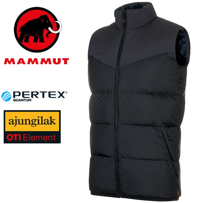 【Mammut 長毛象 瑞士】Whitehorn IN 雙面羽絨背心 男款 黑色 (01100-0052)