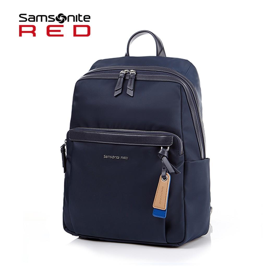 Samsonite RED 新秀麗【BELLECA GF7】輕商務14吋筆電後背包 輕量尼龍 減壓背帶 背後隱藏口袋
