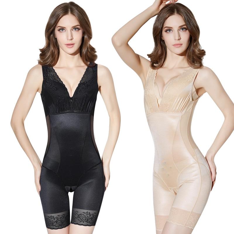 修身塑身衣婷麗美人計夏季塑身衣連體收腹束腰產后減肚腩美體塑形內衣女薄款
