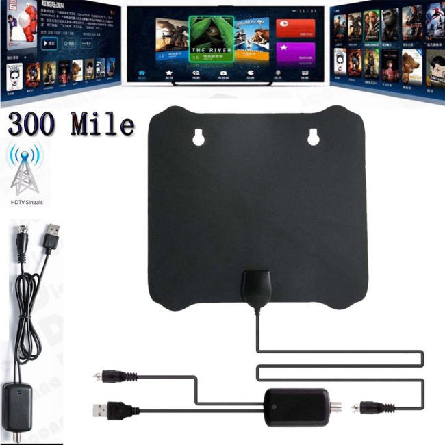 300 英里範圍天線電視數字高清天線 4k Antena Hdtv 1080p 帶放大器