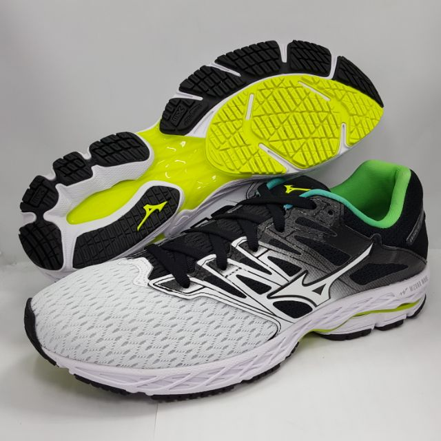 【尺寸25.5 特價供應中】美津濃 MIZUNO 男慢跑鞋 WAVE SHADOW 2 J1GC183016 白/黑/綠