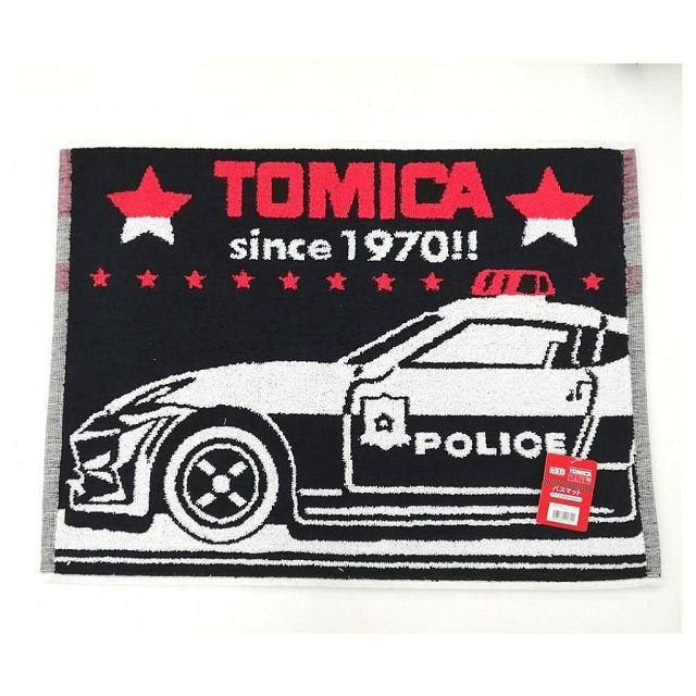 日本 小汽車 TOMICA 浴室用腳踏墊(黑/警車/45X60CM) (8741)