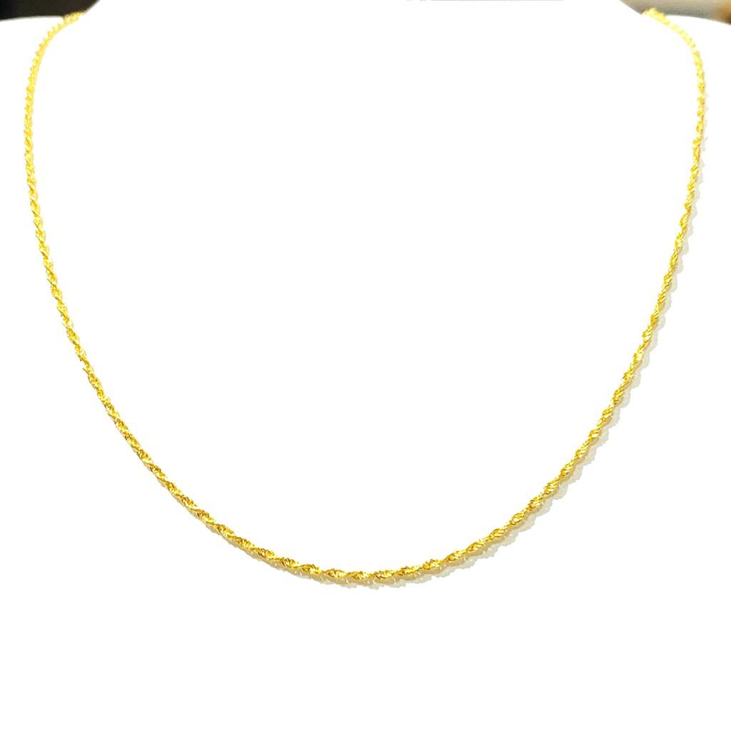 黃金18K金 麻花繩項鍊 約0.22錢 生日禮物 情人 禮物 聖誕節 黃金項鍊 金喜飛來