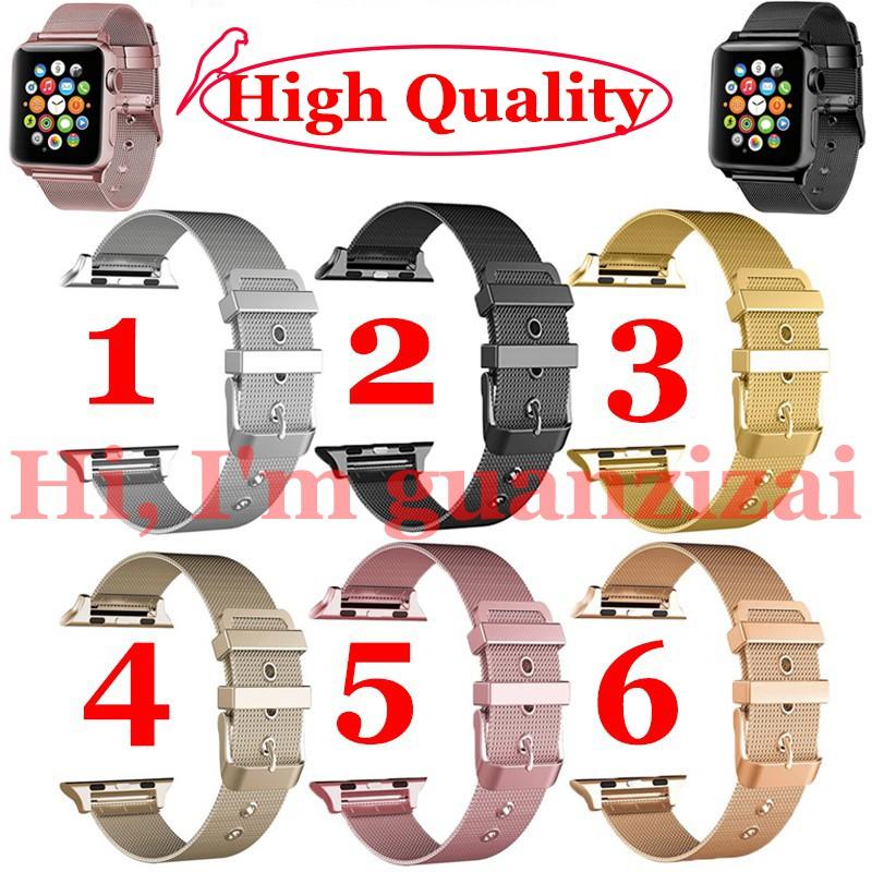適用於Apple Watch Series 3/2/1的Milanese不銹鋼錶帶38mm / 42mm
