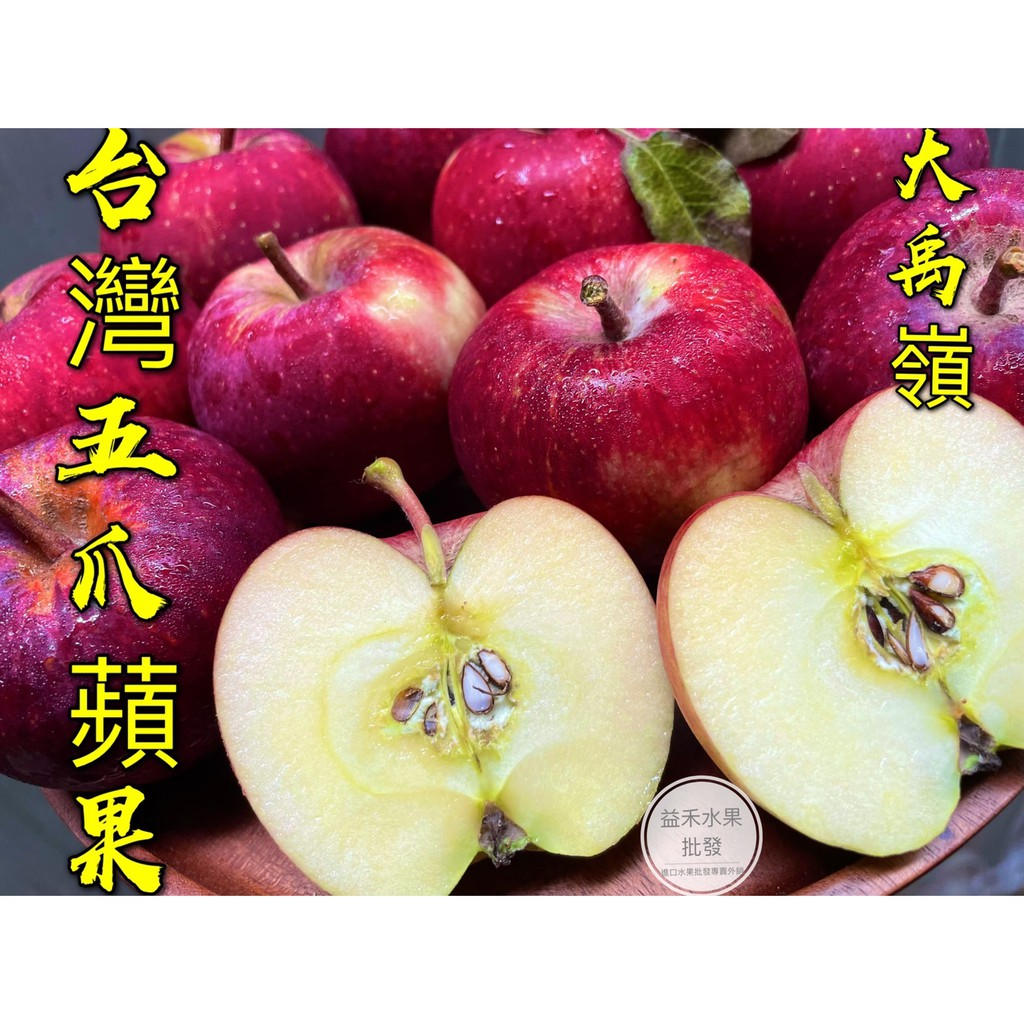 大禹嶺五爪蜜蘋果 10斤免運$1370自產自銷 五爪蘋果 蜜蘋果 梨山蘋果 高山蘋果 福壽山蘋果 【益禾進口水果】