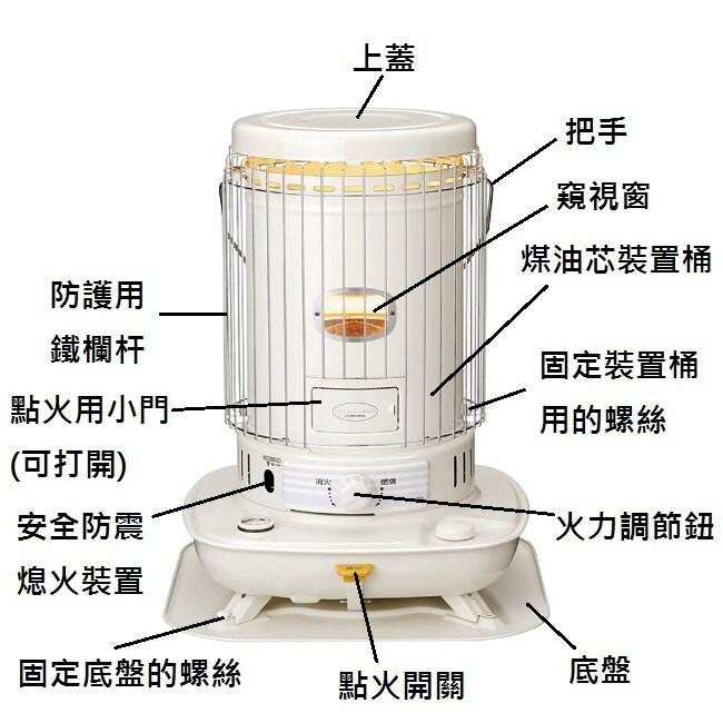 有現貨不用等*日本CORONA 經典款圓桶對流型煤油暖爐 適用13-15坪*SL-6618*另有SL-6617