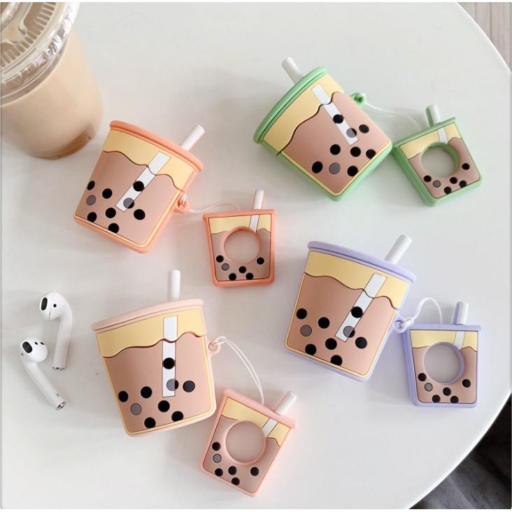 #爆款#珍珠奶茶airpods保護套卡通防丟收納蘋果無線藍牙耳機殼矽膠盒女