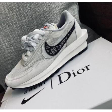 全新代購AD-Nike x Sacai x Dior 聯名 20 白灰 休閒鞋 男女款
