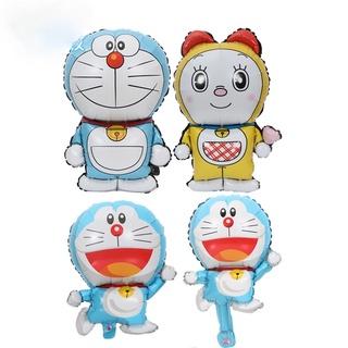 哆啦A夢藍色叮當貓造型鋁箔材質氣球 兒童玩具生日派對裝飾婚禮布置用品