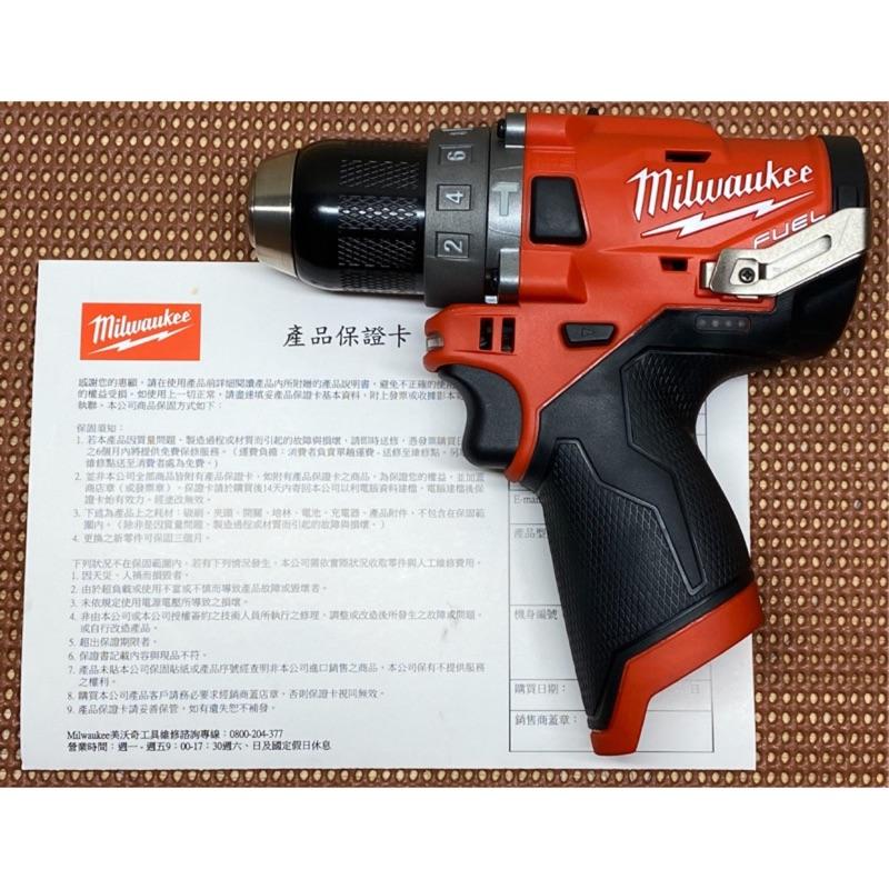 米沃奇公司貨 milwaukee M12 FPD無刷震動三用電鑽 (2504)