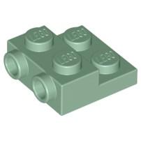 樂高 Lego 沙綠色 側接轉向 薄板 Sand Green Plate Modified 2x2x2/3 99206