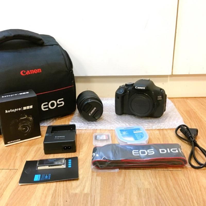 當日出貨 99成新 有保固 CANON 600D 18-55mm鏡頭 (狀況完美)二手