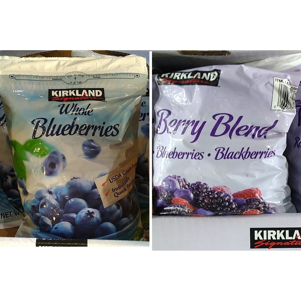 科克蘭 冷凍藍莓 2.27公斤、科克蘭 冷凍三種綜合莓 1.81公斤(覆盆莓、藍莓、黑莓)《宅配免運》好市多線上代購
