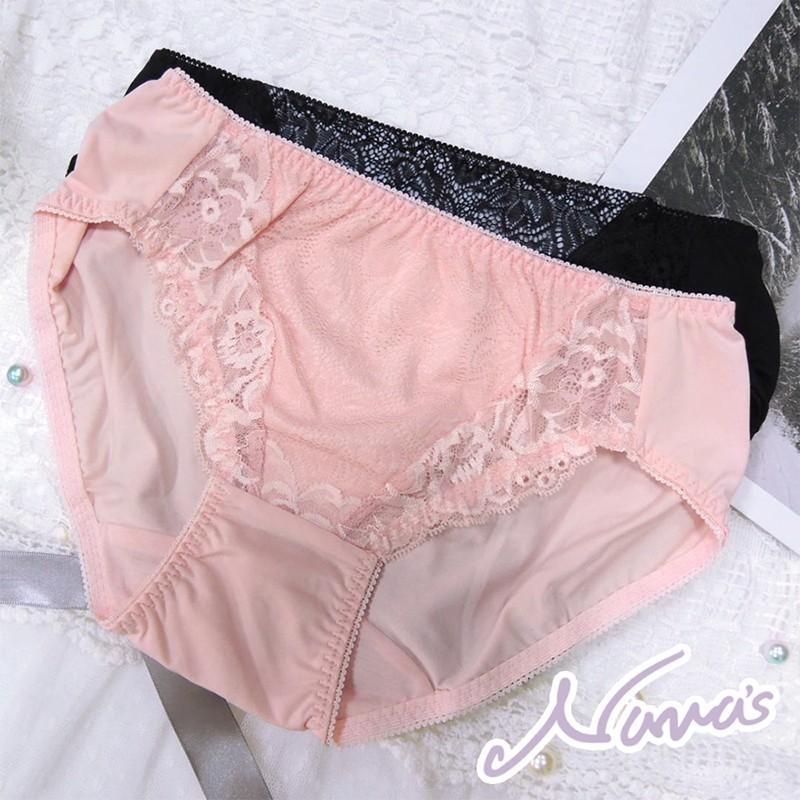 【露娜斯Nunas】歡沁花語 舒適貼身 FREE 三角褲 P5882 台灣製 粉 灰