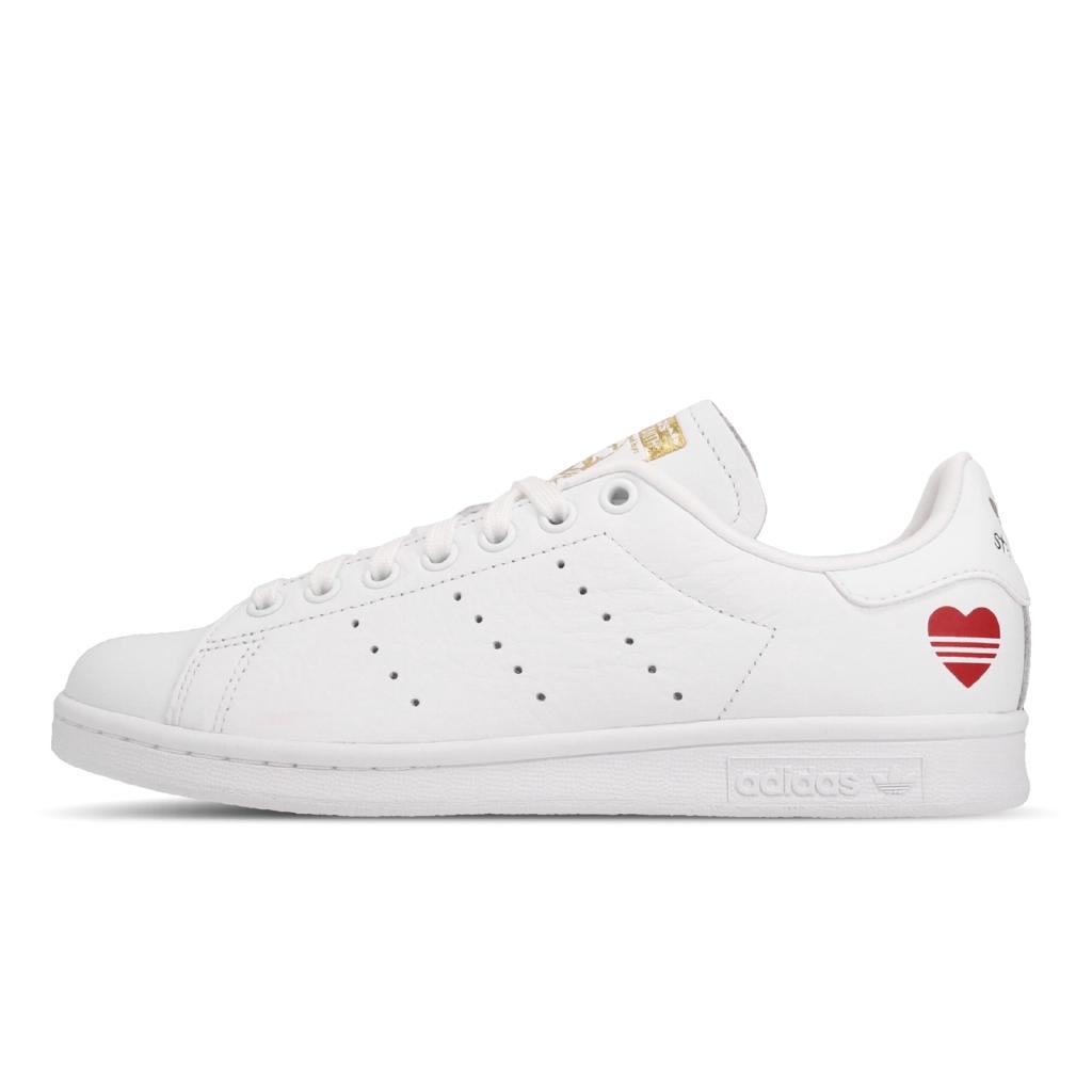 adidas 休閒鞋 Stan Smith 白 紅 愛心 金標 小白鞋 情人節 女鞋 三葉草 【ACS】 FW6390