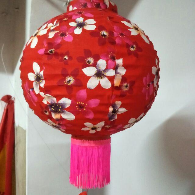 燈籠,客家花布油桐紅色