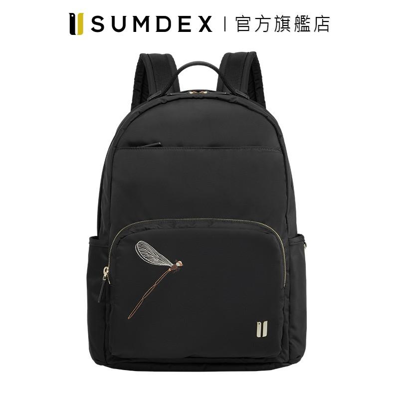 Sumdex 經典輕商務後背包(蜻蜓版) NON-783BK-DT 黑色 官方旗艦店