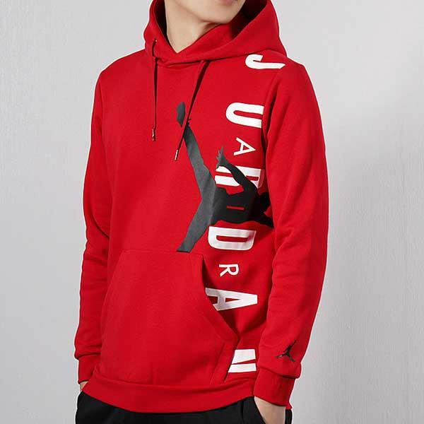 79366854e Nike Jordan Hoodie 紅白黑大logo 刷毛帽T 秋冬服飾男(布魯克林) CD5871 ...