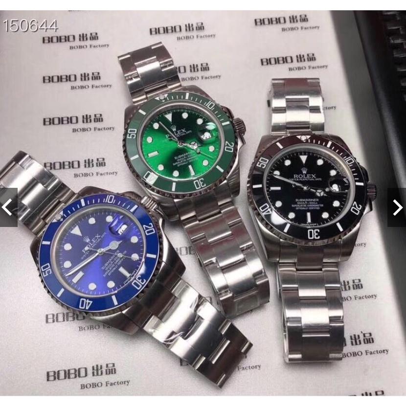 特價潛航者經典款41mm 機械綠水鬼 黑水鬼 藍水鬼勞力士男士腕錶 時尚休閒手錶 超亮夜光手錶