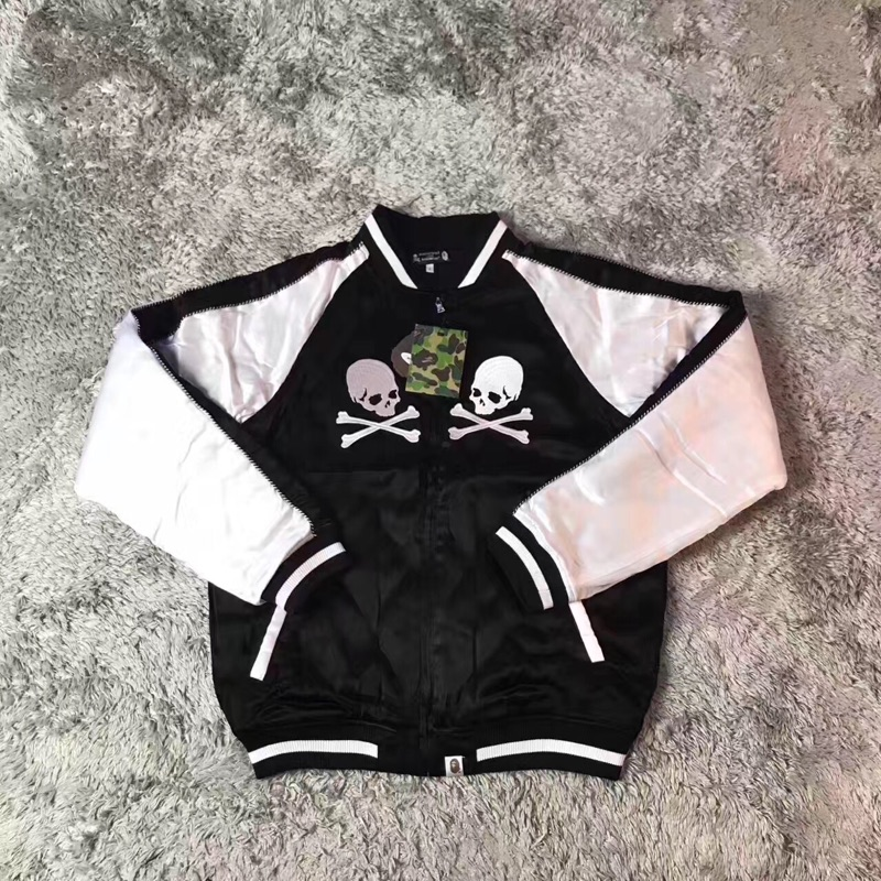 Bape x MMJ棒球絲綢橫須賀刺繡外套