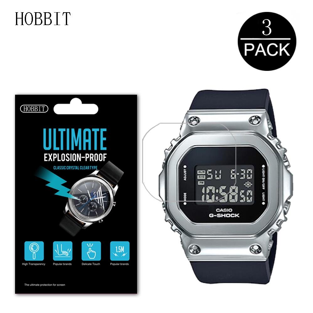 3pcs 納米防爆屏幕保護膜, 適用於 Casio G-Shock GM-S5600 S5600G S5600PG Sm