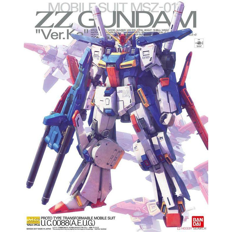 【大頭宅】 BANDAI  MG 1/100 ZZ GUNDAM ZZ鋼彈 Ver.Ka.r KA