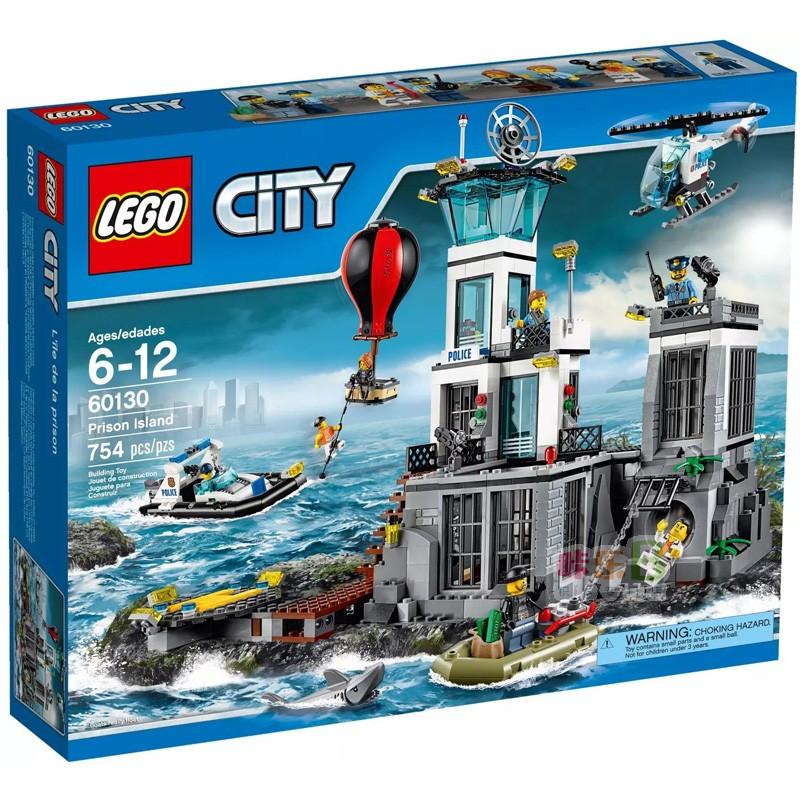 新產品LEGO樂高積木城市系列警察警局特警海上監獄島60130拼裝玩具男孩