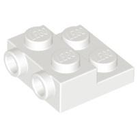 LEGO 樂高 白色 Plate 2x2x2/3 2 Studs 側邊附顆粒 99206 6046979