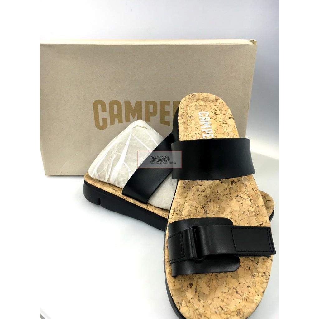 Camper 女 軟木底休閒拖鞋、涼鞋 Oruga系列 平底鞋 皮革 輕量 現貨 零碼 出清 COSTCO 代購 好市多