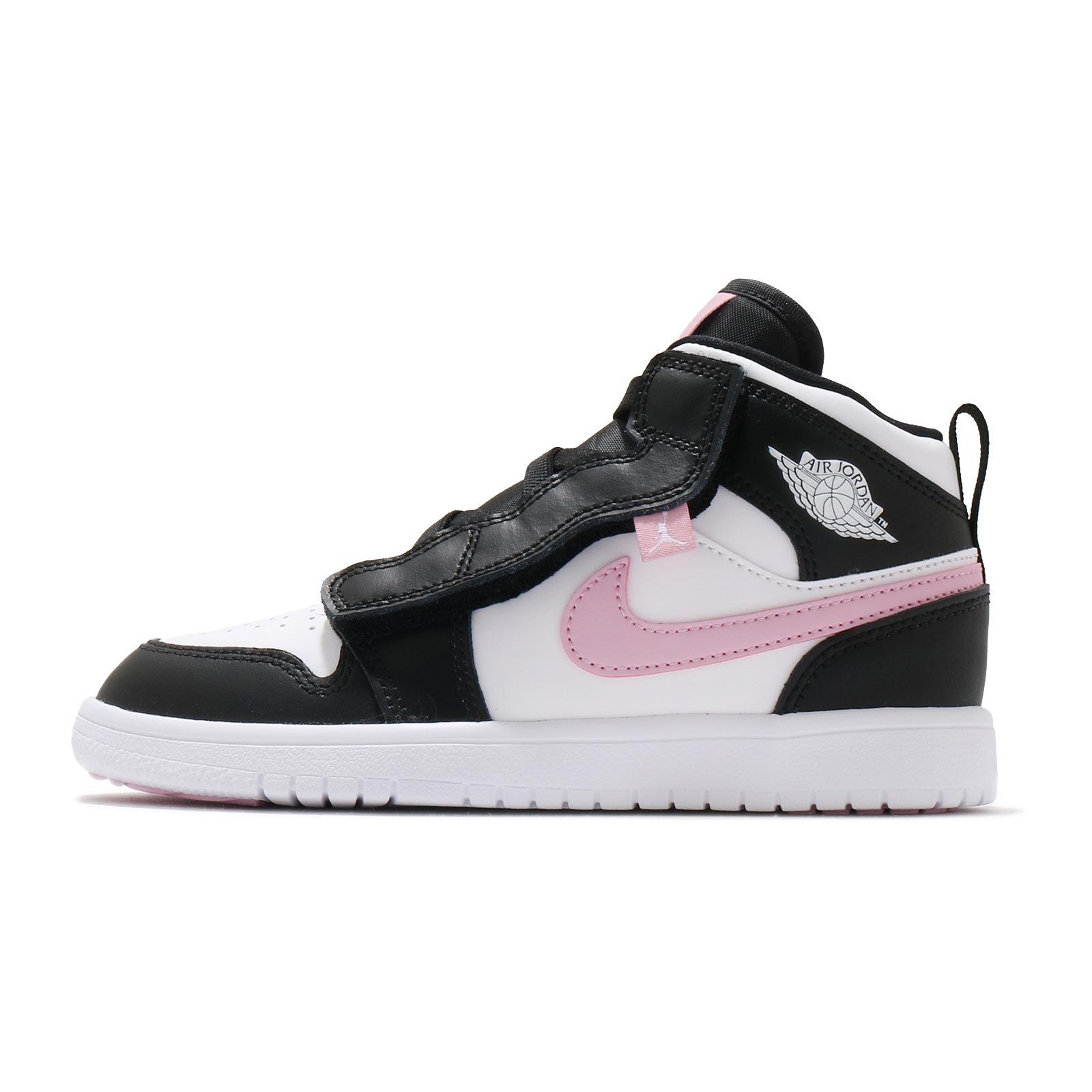 Nike 童鞋 Jordan 1 Mid ALT PS 黑 白 粉紅 喬丹 女孩 小朋友【ACS】 AT4612-103