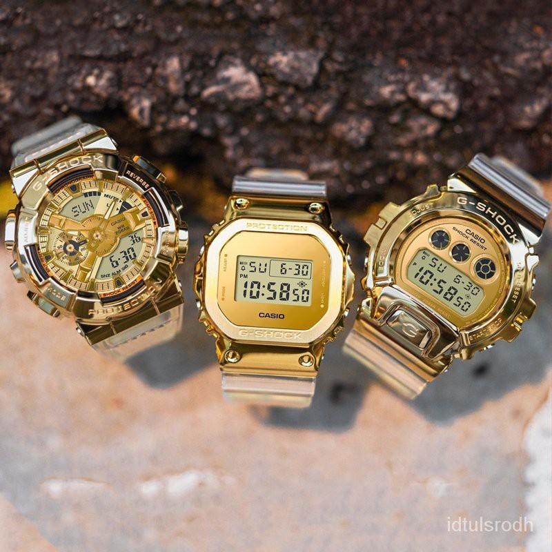 開學季卡西歐G-SHOCK新款金塊透明手錶男石英錶GM-5600SG-9 GM-110SG-9 PViP