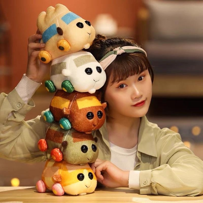 🌸天竺鼠車車娃娃 毛絨玩具 公仔玩偶睡覺抱枕 倉鼠娃娃 生日禮物 日本豚鼠變汽車pulpul 倉鼠 土豆 阿比