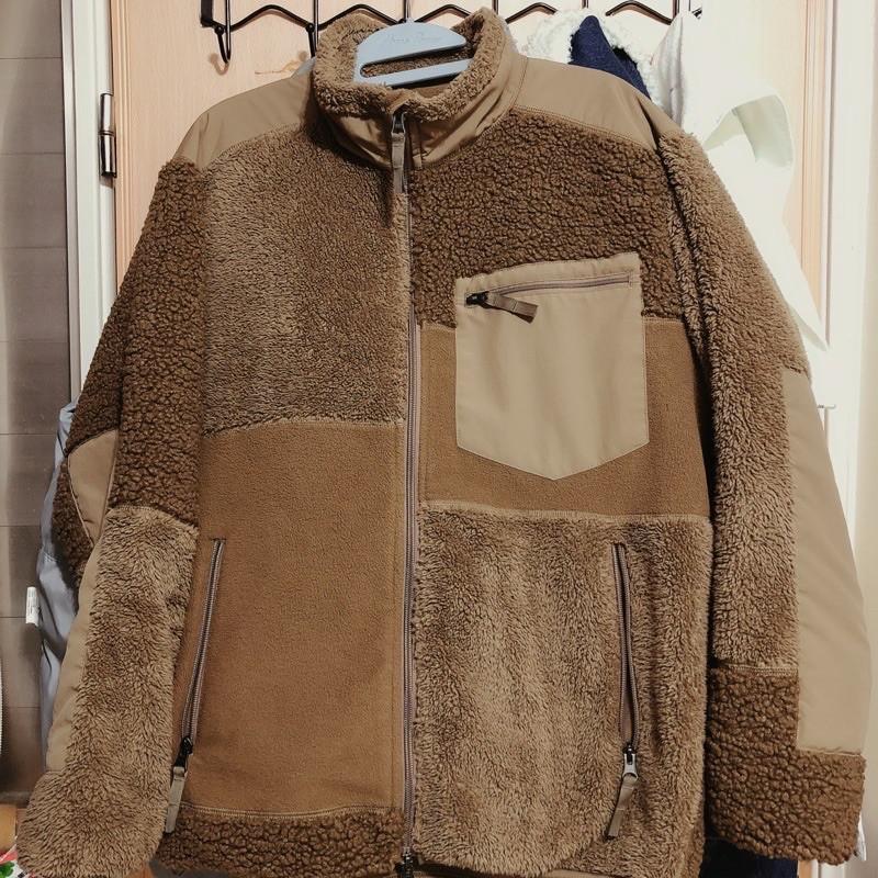 Uniqlo x Engineered Garments 刷毛拼接外套 XL