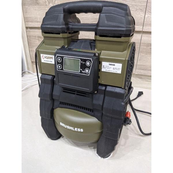TX05DA 日本ASAHI 充電(18v)、插電兩用無碳刷空壓機(保固中)含電池 牧田電池通用 僅開封試用