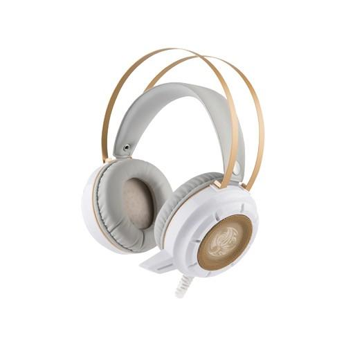 TCSTAR TCE9600WE電競有線耳機麥克風(白)-