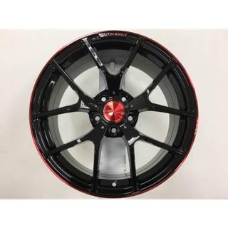 新上市MAHOM 18吋5-108亮黑紅邊鋁圈 其他規格歡迎洽詢 價格標示88非實際售價 洽詢優惠中
